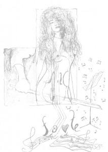 авторский рисунок Валерия Егорова: Женщина-муза(женщина желаний)